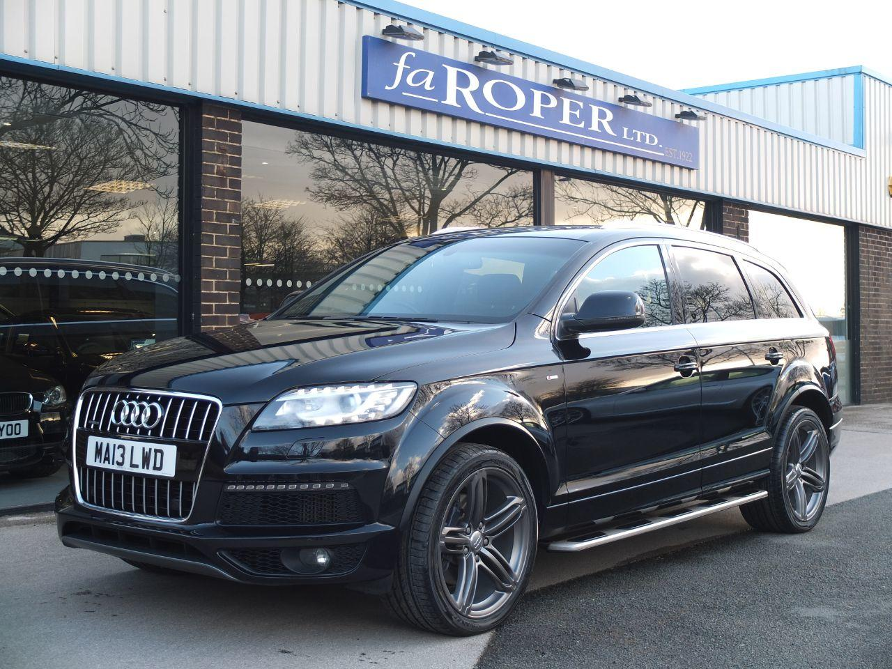Audi Q7 3.0 TDI 245 Quattro S Line Plus Tip Auto Estate Diesel Orca Black MetallicAudi Q7 3.0 TDI 245 Quattro S Line Plus Tip Auto Estate Diesel Orca Black Metallic at fa Roper Ltd Bradford