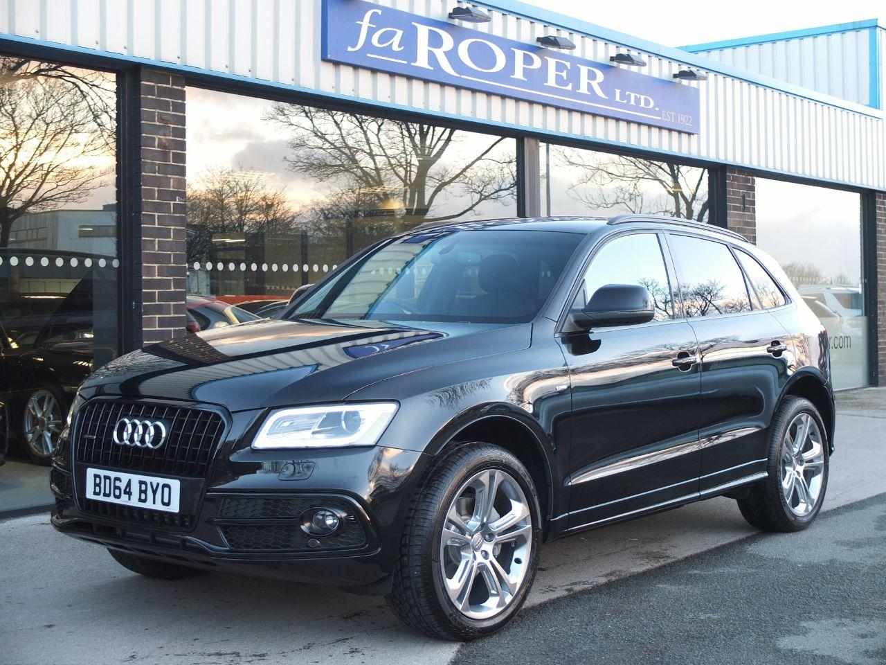 Audi Q5 2.0 TDI quattro S Line Plus 177 ps S Tronic +++Spec Four Wheel Drive Diesel Mythos Black MetallicAudi Q5 2.0 TDI quattro S Line Plus 177 ps S Tronic +++Spec Four Wheel Drive Diesel Mythos Black Metallic at fa Roper Ltd Bradford