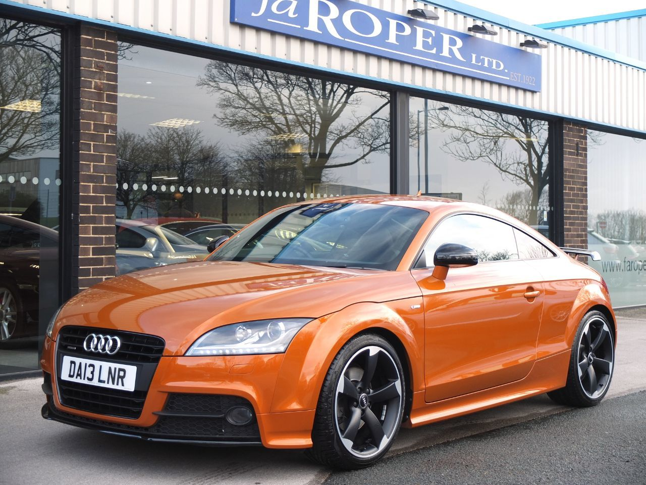 Audi TT 2.0 TDI Quattro Black Edition S Tronic (Amplified Edition +++ Spec) Coupe Diesel Samoa Orange MetallicAudi TT 2.0 TDI Quattro Black Edition S Tronic (Amplified Edition +++ Spec) Coupe Diesel Samoa Orange Metallic at fa Roper Ltd Bradford