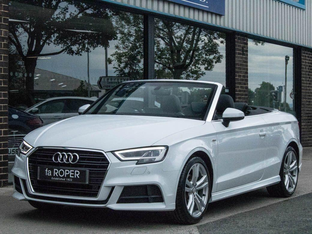 Audi A3 Cabriolet 1.5 TFSI S Line S tronic 150ps Convertible Petrol Glacier White MetallicAudi A3 Cabriolet 1.5 TFSI S Line S tronic 150ps Convertible Petrol Glacier White Metallic at fa Roper Ltd Bradford