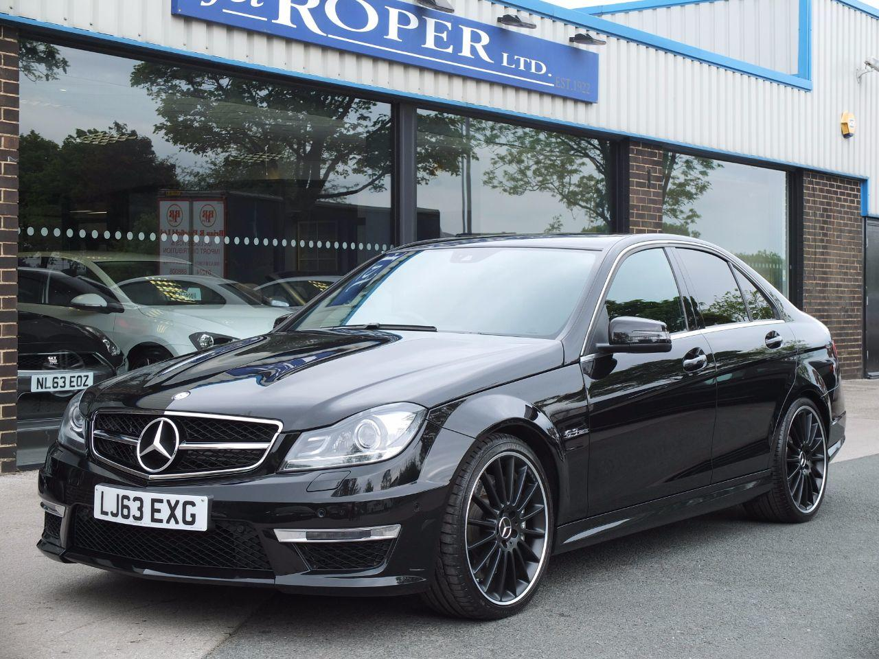 Mercedes-Benz C Class 6.2 C63 AMG MCT 7 Speed Auto Saloon Petrol Obsidian Black MetallicMercedes-Benz C Class 6.2 C63 AMG MCT 7 Speed Auto Saloon Petrol Obsidian Black Metallic at fa Roper Ltd Bradford