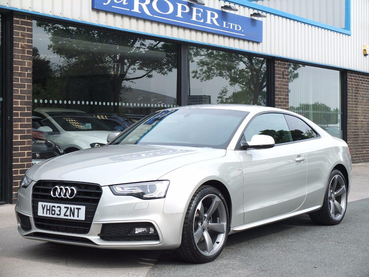 Audi A5 2.0 TDI 177 ps Black Edition Coupe Multitronic +++Spec Coupe Diesel Cuvee Silver MetallicAudi A5 2.0 TDI 177 ps Black Edition Coupe Multitronic +++Spec Coupe Diesel Cuvee Silver Metallic at fa Roper Ltd Bradford