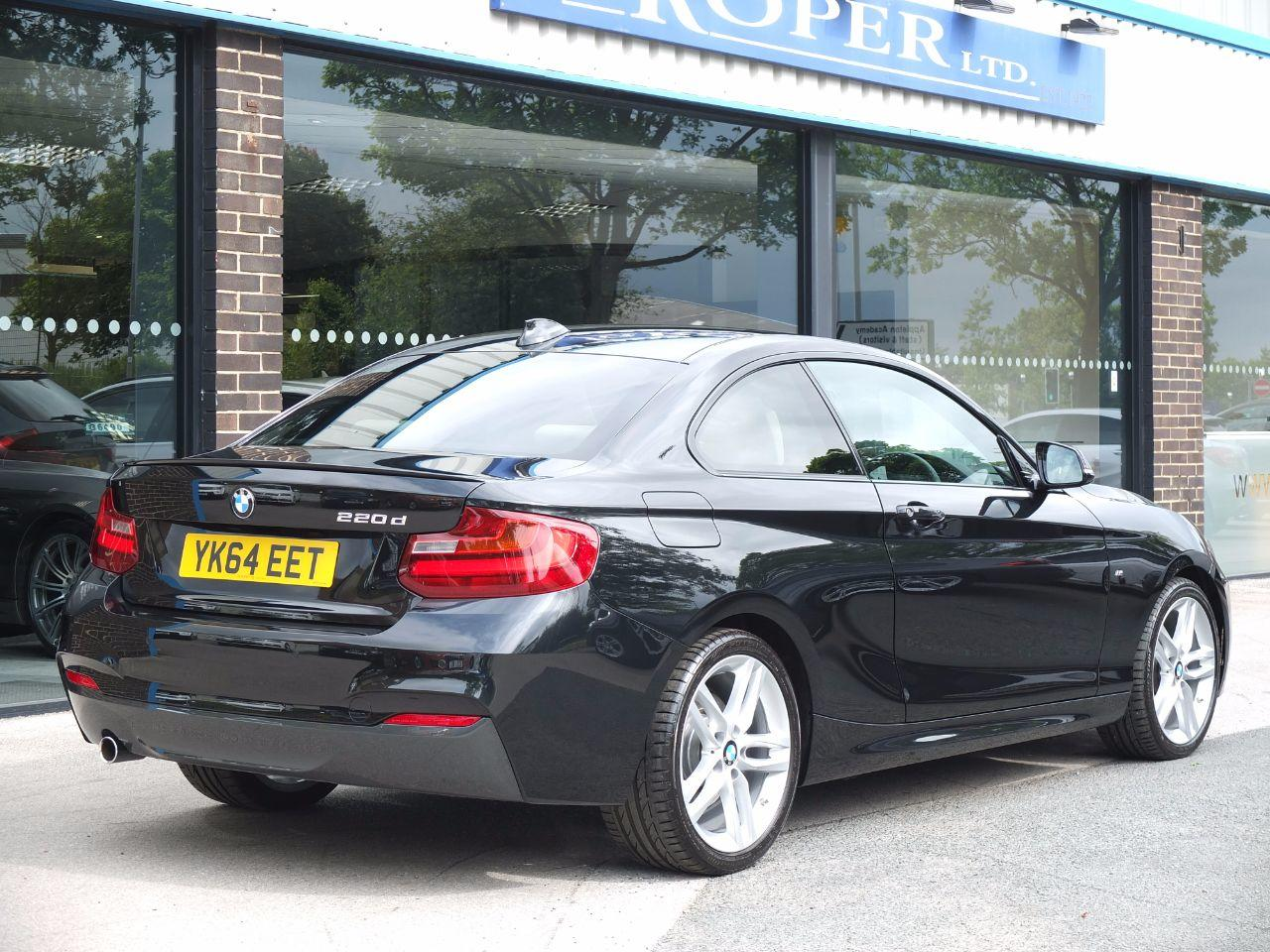 BMW 2 Series 2.0 220d M Sport Coupe Auto, Pro Media, Leather++ Coupe Diesel Black Sapphire Metallic