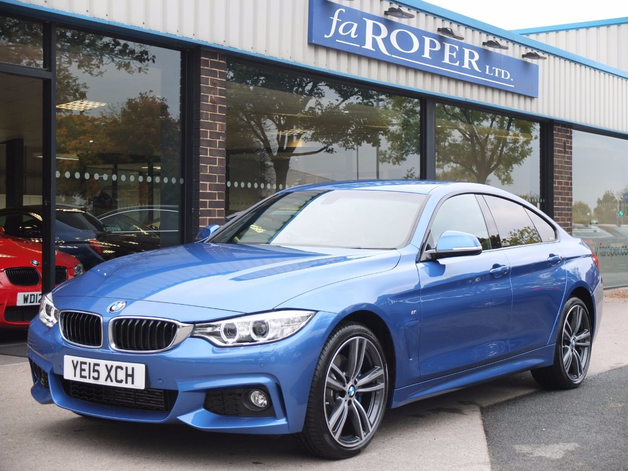 BMW 4 Series 2.0 420d xDrive M Sport Gran Coupe Auto (M Sport Plus Pack) Coupe Diesel Estoril Blue MetallicBMW 4 Series 2.0 420d xDrive M Sport Gran Coupe Auto (M Sport Plus Pack) Coupe Diesel Estoril Blue Metallic at fa Roper Ltd Bradford