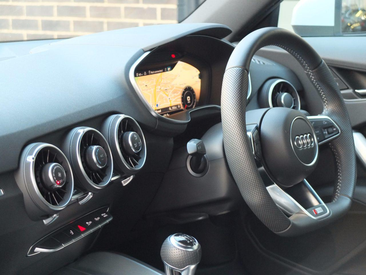 Audi TT Coupe 2.0 TDI Ultra S Line (Virtual Cockpit Display inc Navigation High) Coupe Diesel Glacier White Metallic