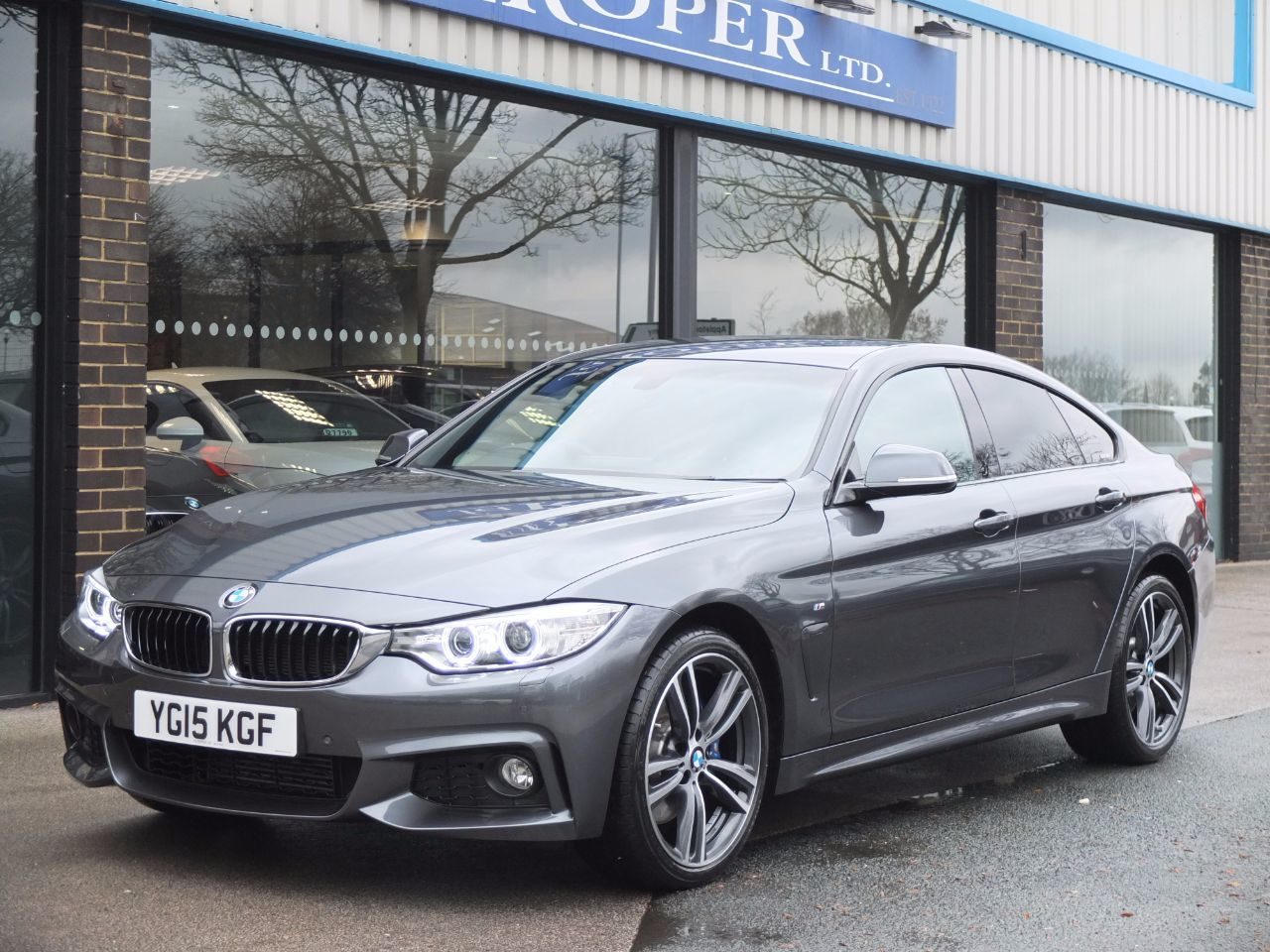 BMW 4 Series 2.0 Gran Coupe 420d xDrive M Sport Auto (M Sport Plus and Media) Coupe Diesel Mineral Grey MetallicBMW 4 Series 2.0 Gran Coupe 420d xDrive M Sport Auto (M Sport Plus and Media) Coupe Diesel Mineral Grey Metallic at fa Roper Ltd Bradford