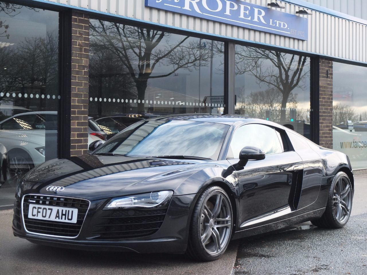 Audi R8 4.2 FSI quattro Coupe Petrol Phantom Black MetallicAudi R8 4.2 FSI quattro Coupe Petrol Phantom Black Metallic at fa Roper Ltd Bradford