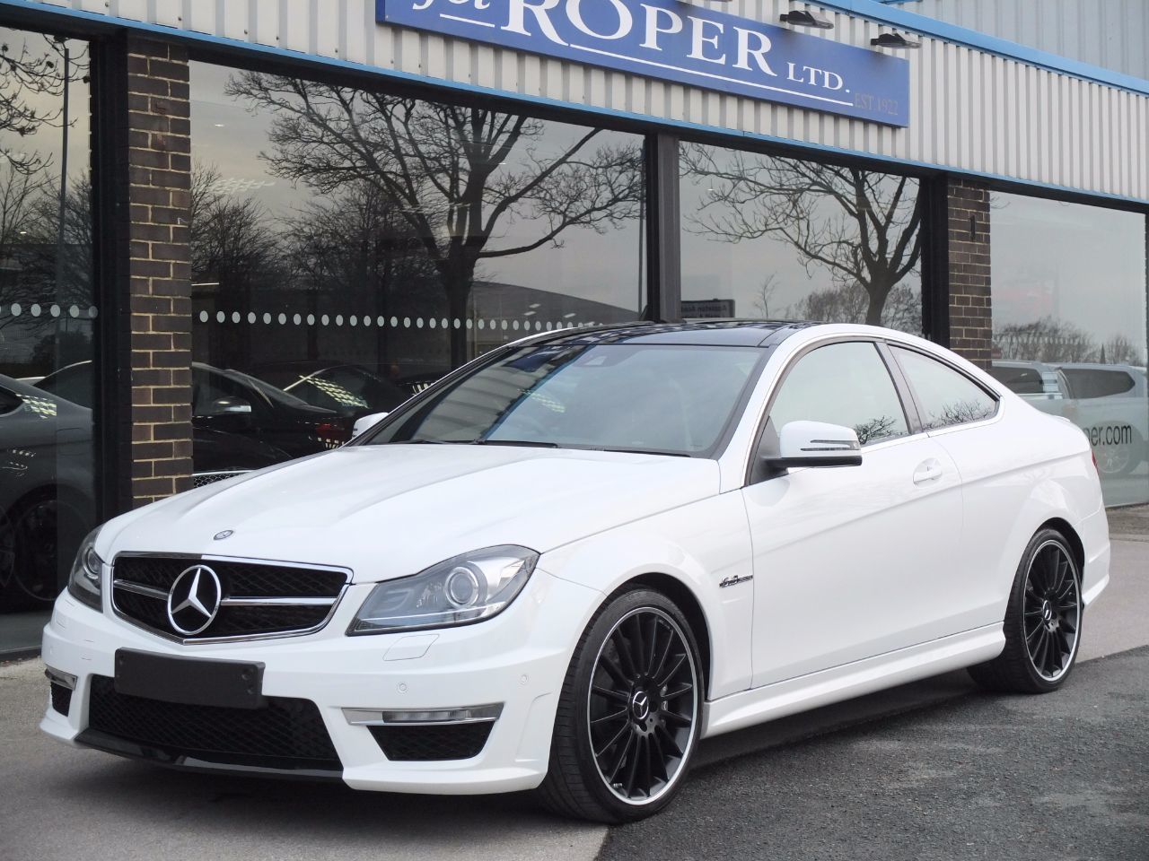 Mercedes-Benz C Class 6.2 C63 AMG Coupe MCT AMG Speedshift Auto Coupe Petrol Polar WhiteMercedes-Benz C Class 6.2 C63 AMG Coupe MCT AMG Speedshift Auto Coupe Petrol Polar White at fa Roper Ltd Bradford