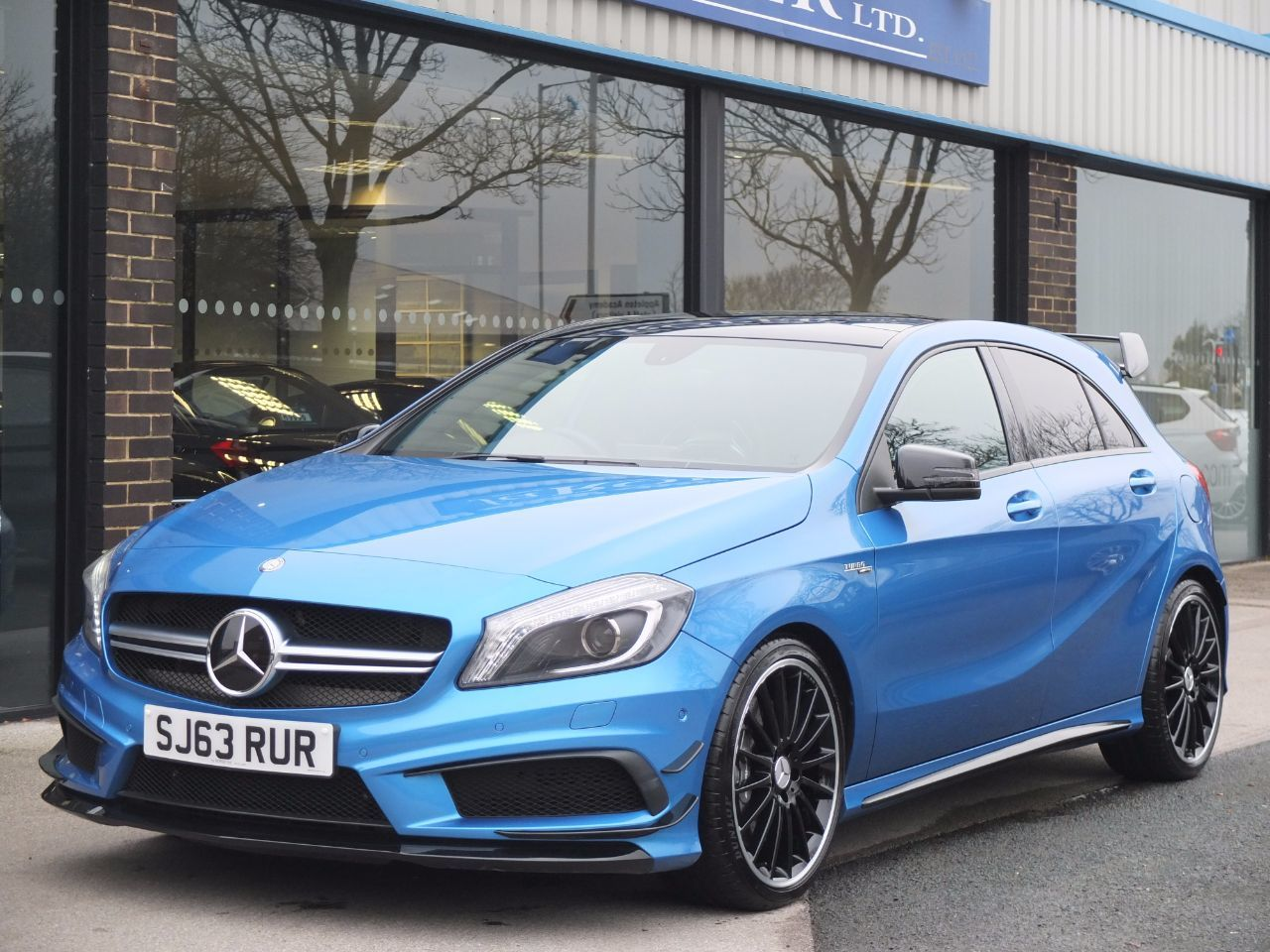 Mercedes-Benz A Class 2.0 A45 AMG 7G-DCT 4-MATIC Hatchback Petrol South Seas Blue MetallicMercedes-Benz A Class 2.0 A45 AMG 7G-DCT 4-MATIC Hatchback Petrol South Seas Blue Metallic at fa Roper Ltd Bradford