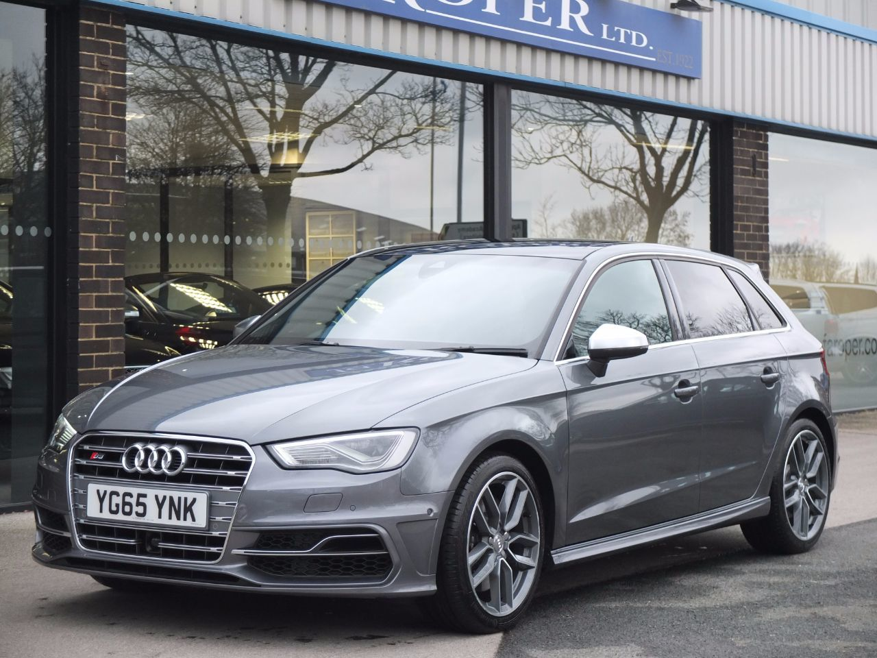 Audi A3 S3 2.0 TFSI quattro Sportback 300ps S Tronic Hatchback Petrol Monsoon Grey MetallicAudi A3 S3 2.0 TFSI quattro Sportback 300ps S Tronic Hatchback Petrol Monsoon Grey Metallic at fa Roper Ltd Bradford