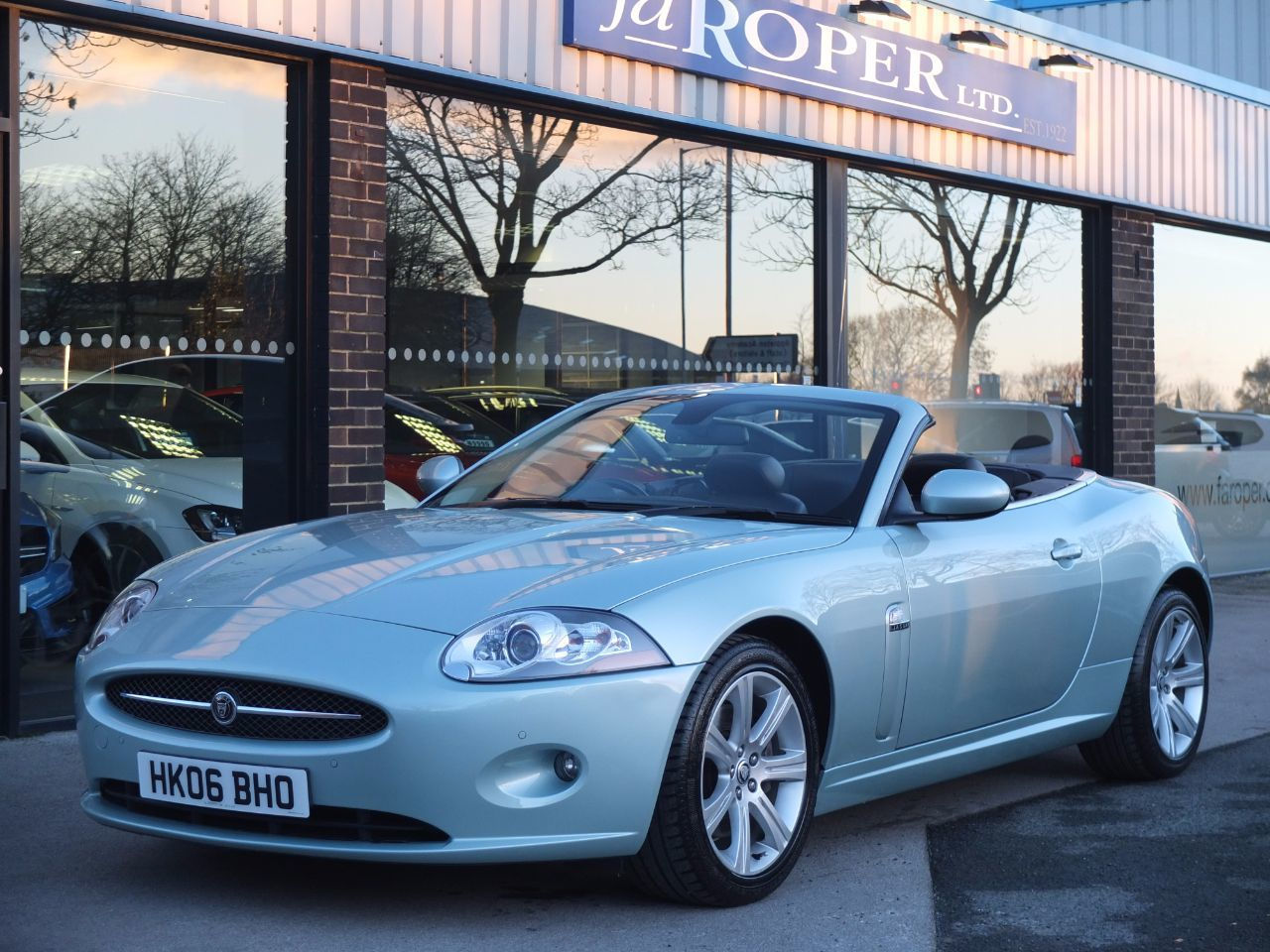 Jaguar XK 4.2 V8 Convertible Auto Sports Petrol Silver Seafrost Metallic, Black HoodJaguar XK 4.2 V8 Convertible Auto Sports Petrol Silver Seafrost Metallic, Black Hood at fa Roper Ltd Bradford