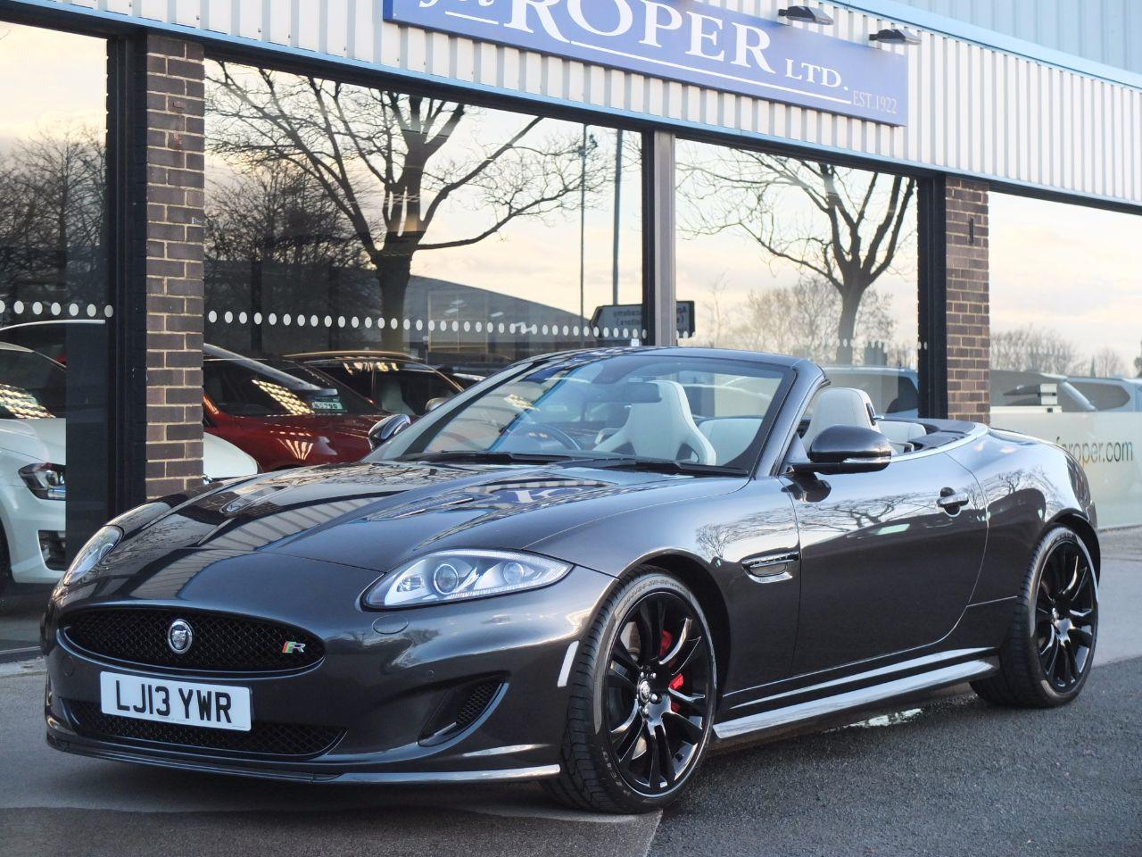 Jaguar XK Convertible 5.0 Supercharged V8 R Auto (Speed Body Pack, Performance Seats) Convertible Petrol Stratus Grey MetallicJaguar XK Convertible 5.0 Supercharged V8 R Auto (Speed Body Pack, Performance Seats) Convertible Petrol Stratus Grey Metallic at fa Roper Ltd Bradford