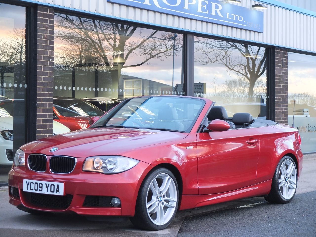 BMW 1 Series 2.0 118i M Sport Convertible Convertible Petrol Sedona Red Metallic, Black HoodBMW 1 Series 2.0 118i M Sport Convertible Convertible Petrol Sedona Red Metallic, Black Hood at fa Roper Ltd Bradford