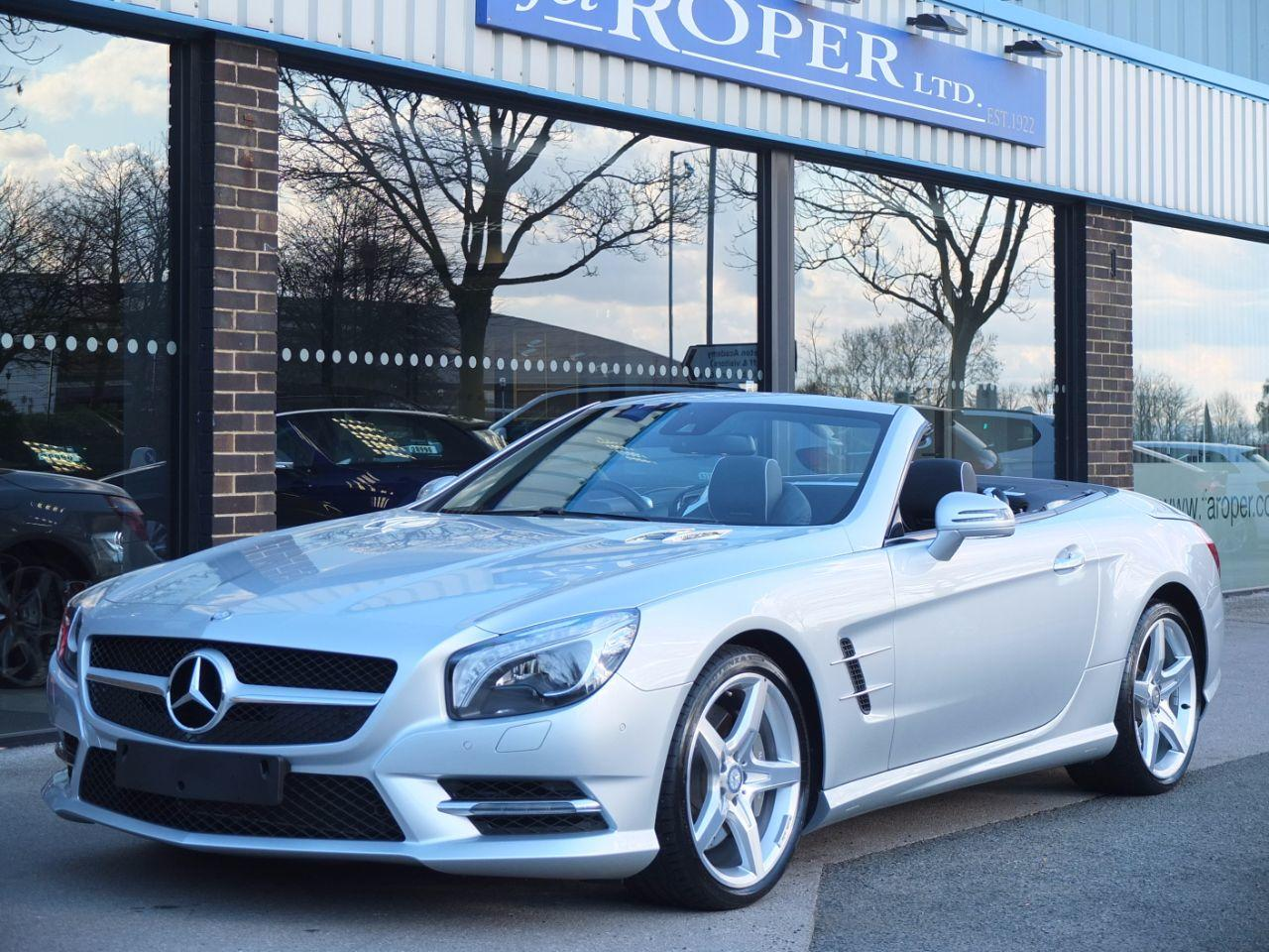 Mercedes-Benz SL Class 3.5 SL 350 BlueEfficiency 7G-Tronic Plus, AMG Sports Package Convertible Petrol Iridium Silver MetallicMercedes-Benz SL Class 3.5 SL 350 BlueEfficiency 7G-Tronic Plus, AMG Sports Package Convertible Petrol Iridium Silver Metallic at fa Roper Ltd Bradford