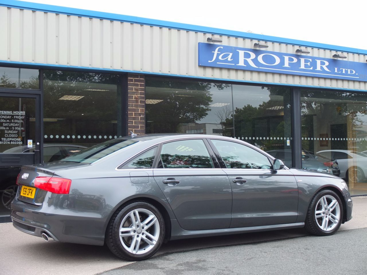 Audi A6 3.0 TDI quattro S Line S Tronic 245ps Tech Pack Saloon Diesel Daytona Grey Metallic