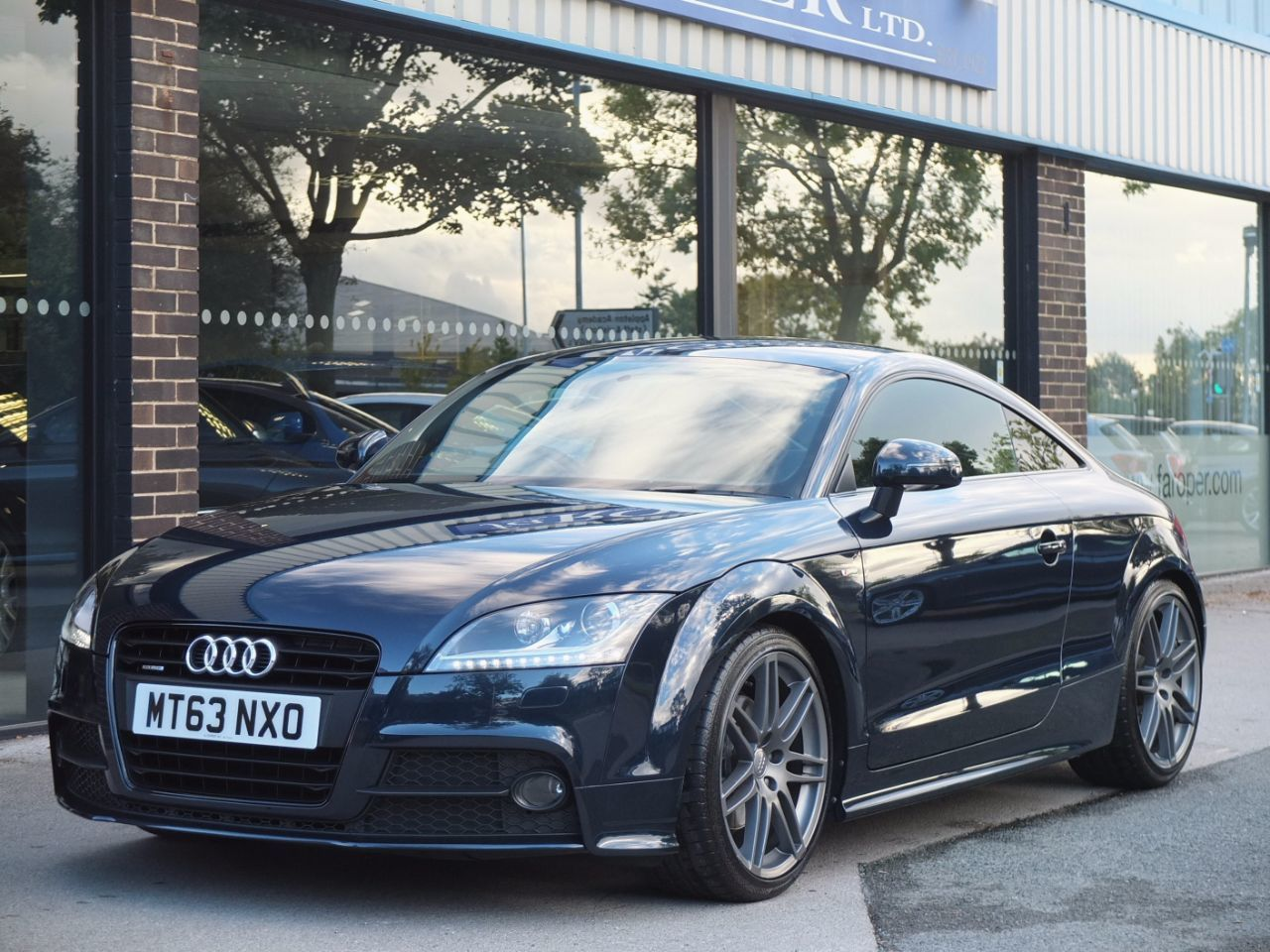 Audi TT Coupe 2.0 TDI quattro Black Edition S Tronic Coupe Diesel Midnight Blue Metallic Audi Exclusive Paint FinishAudi TT Coupe 2.0 TDI quattro Black Edition S Tronic Coupe Diesel Midnight Blue Metallic Audi Exclusive Paint Finish at fa Roper Ltd Bradford