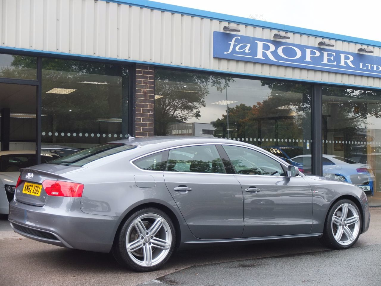 Audi A5 Sportback 2.0 TDI 177ps S Line 5 door Multitronic Hatchback Diesel Monsoon Grey Metallic