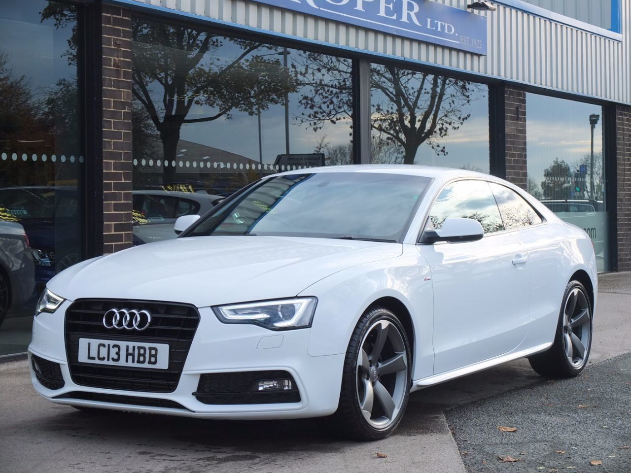 Audi A5 Coupe 2.0 TDI 177 Black Edition Multitronic Coupe Diesel Ibis WhiteAudi A5 Coupe 2.0 TDI 177 Black Edition Multitronic Coupe Diesel Ibis White at fa Roper Ltd Bradford