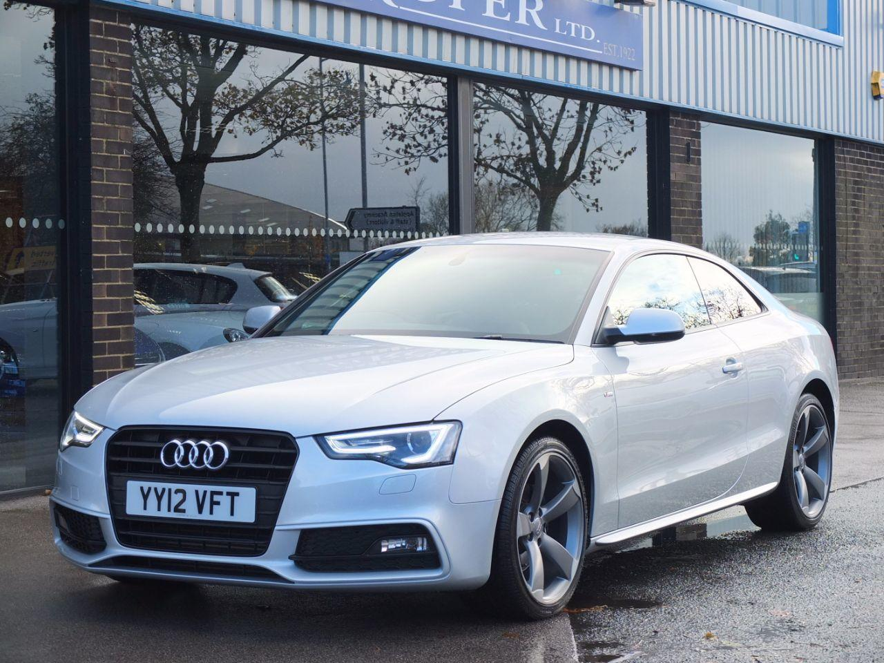 Audi A5 Coupe 2.0 TDI 177 Black Edition Coupe Diesel Ice Silver MetallicAudi A5 Coupe 2.0 TDI 177 Black Edition Coupe Diesel Ice Silver Metallic at fa Roper Ltd Bradford