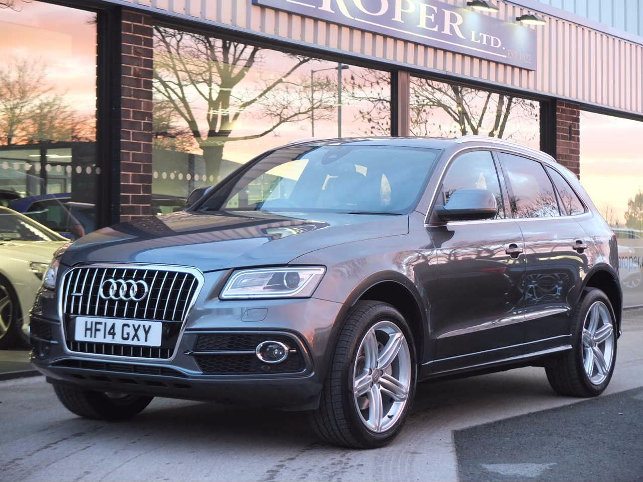 Audi Q5 3.0 TDI quattro S Line Plus S Tronic Estate Diesel Daytona Grey MetallicAudi Q5 3.0 TDI quattro S Line Plus S Tronic Estate Diesel Daytona Grey Metallic at fa Roper Ltd Bradford
