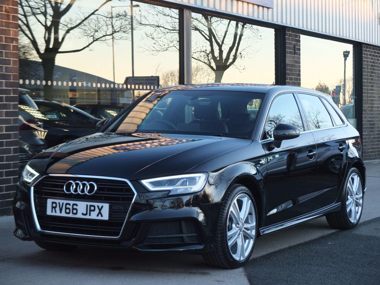Audi A3 Sportback 1.4 TFSI S Line S tronic 150ps Cylinder on Demand Hatchback Petrol Mythos Black MetallicAudi A3 Sportback 1.4 TFSI S Line S tronic 150ps Cylinder on Demand Hatchback Petrol Mythos Black Metallic at fa Roper Ltd Bradford