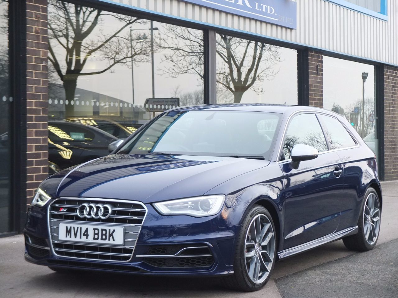 Audi A3 S3 2.0 TFSI quattro S tronic 3 door Hatchback Petrol Estoril Blue MetallicAudi A3 S3 2.0 TFSI quattro S tronic 3 door Hatchback Petrol Estoril Blue Metallic at fa Roper Ltd Bradford