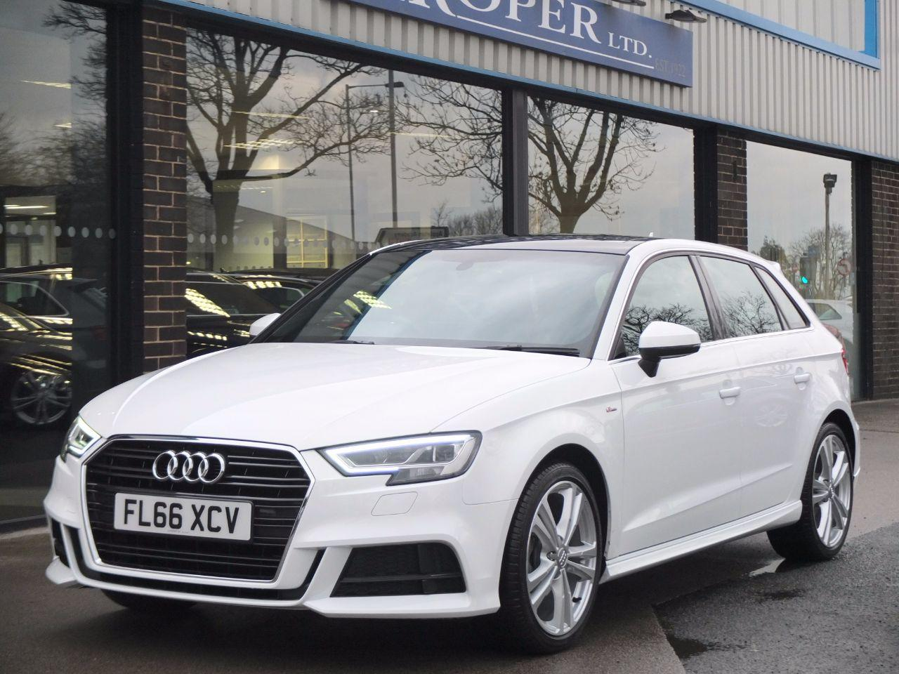 Audi A3 Sportback 1.4 TFSI S Line S Tronic (Cylinder on Demand) Hatchback Petrol Ibis WhiteAudi A3 Sportback 1.4 TFSI S Line S Tronic (Cylinder on Demand) Hatchback Petrol Ibis White at fa Roper Ltd Bradford