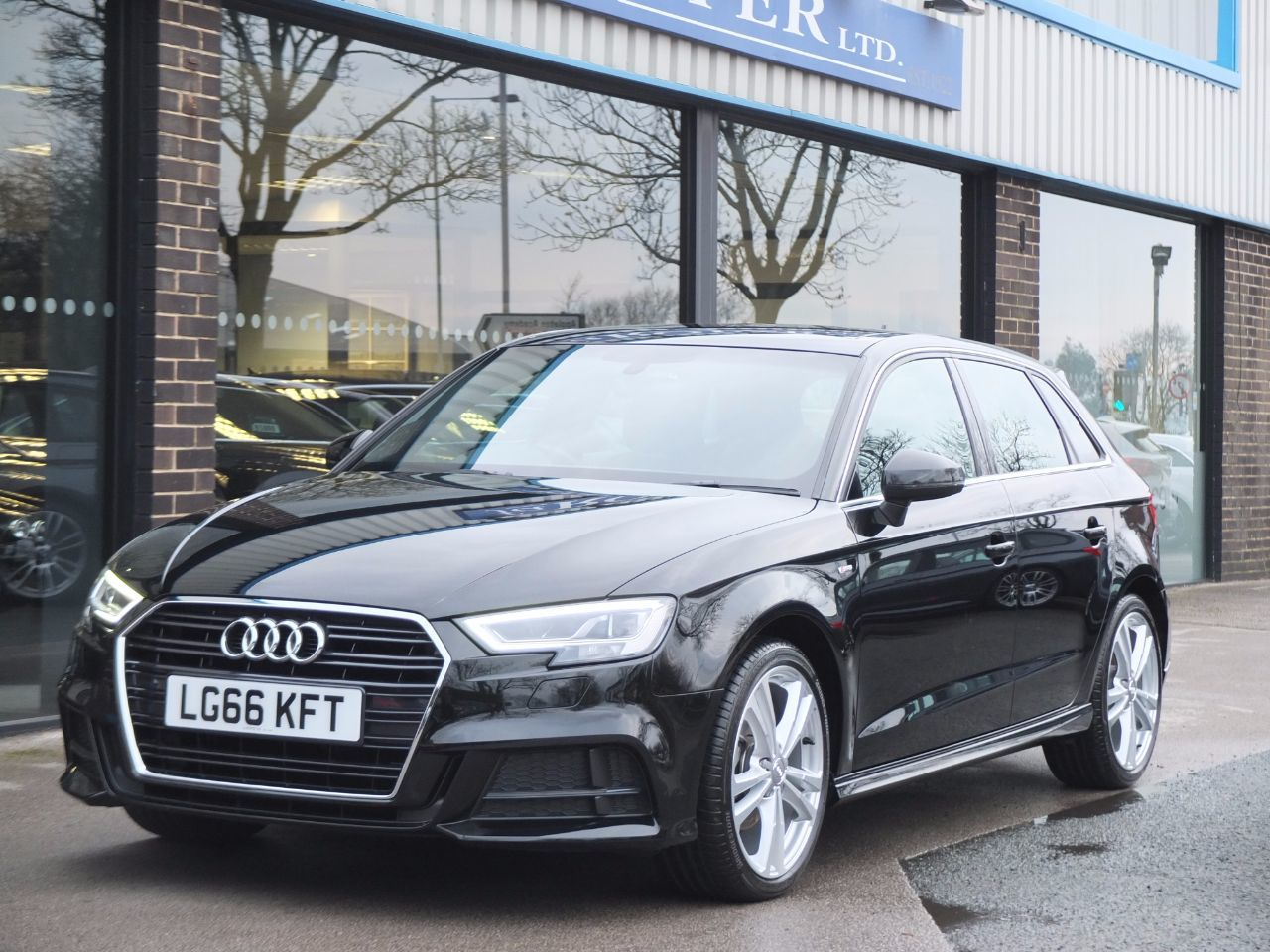 Audi A3 Sportback 1.4 TFSI S Line S Tronic (Cylinder on Demand) Hatchback Petrol Mythos Black MetallicAudi A3 Sportback 1.4 TFSI S Line S Tronic (Cylinder on Demand) Hatchback Petrol Mythos Black Metallic at fa Roper Ltd Bradford