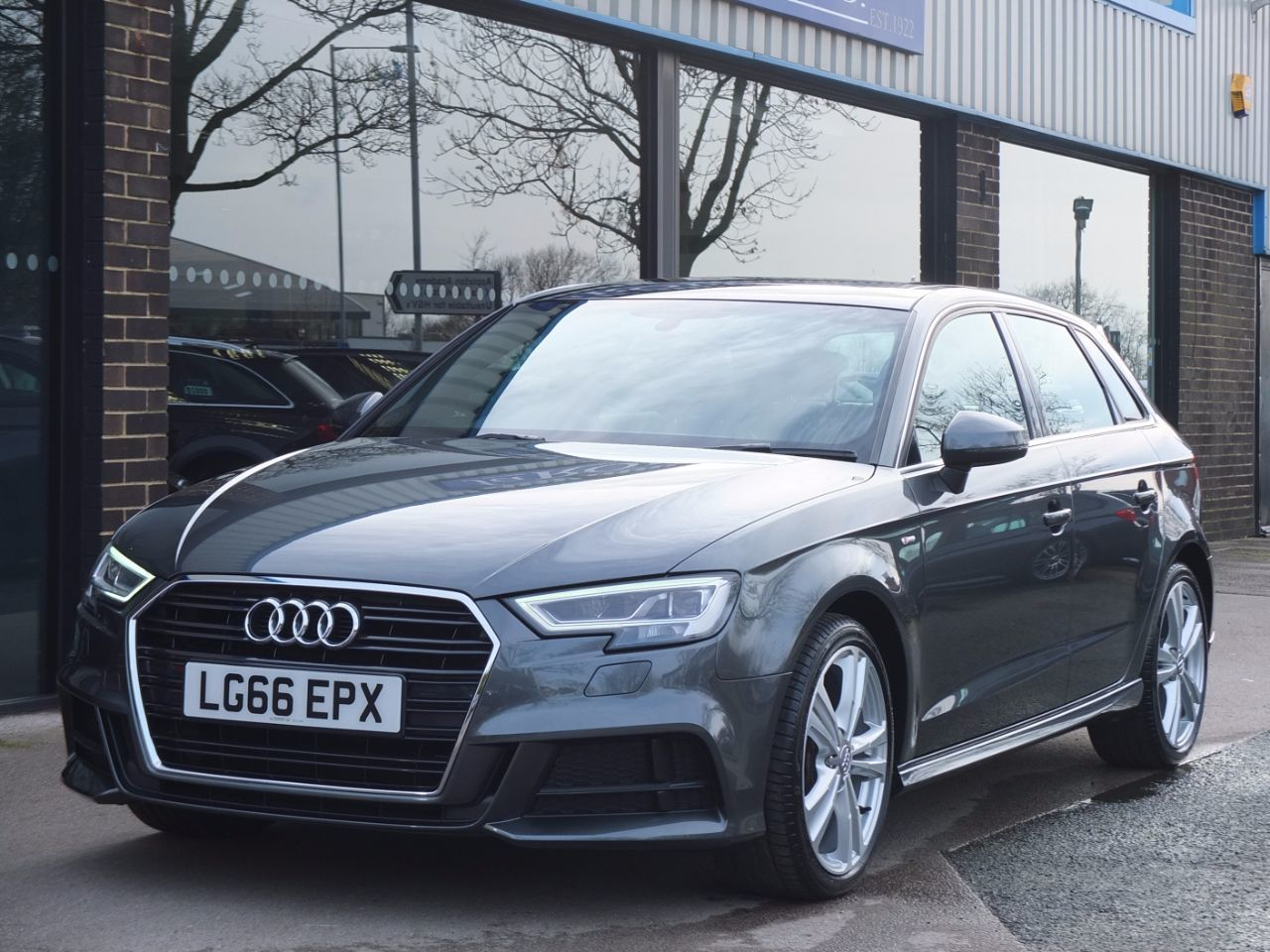 Audi A3 Sportback 1.4 TFSI S Line S Tronic (Cylinder on Demand) Hatchback Petrol Daytona Grey MetallicAudi A3 Sportback 1.4 TFSI S Line S Tronic (Cylinder on Demand) Hatchback Petrol Daytona Grey Metallic at fa Roper Ltd Bradford