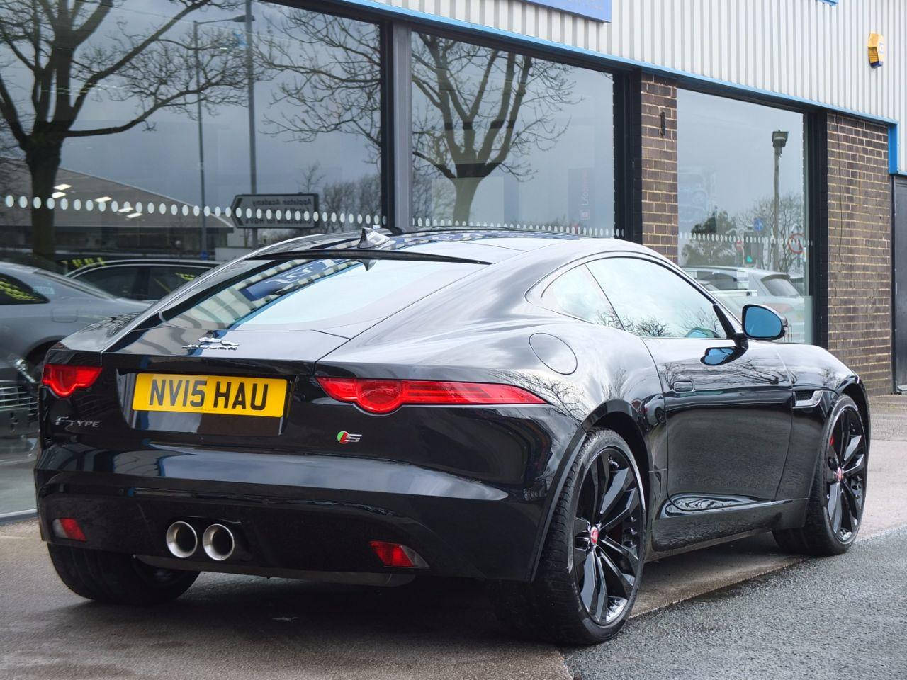 Jaguar F-type 3.0 Supercharged V6 S 380ps Auto Coupe Petrol Ultimate Black Metallic
