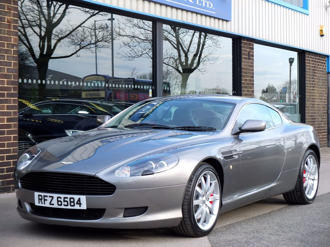 Aston Martin DB9 5.9 Coupe V12 Touchtronic Auto Coupe Petrol Tungsten Silver MetallicAston Martin DB9 5.9 Coupe V12 Touchtronic Auto Coupe Petrol Tungsten Silver Metallic at fa Roper Ltd Bradford