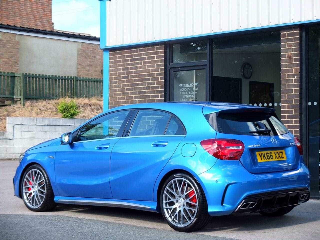 Mercedes-Benz A Class 2.0 AMG A45 4MATIC Speedshift DCT Auto 381bhp Hatchback Petrol South Sea Blue Metallic