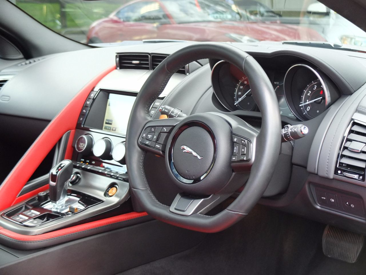 Jaguar F-type 3.0 Supercharged V6 S Auto 380ps Coupe Petrol Caldera Red