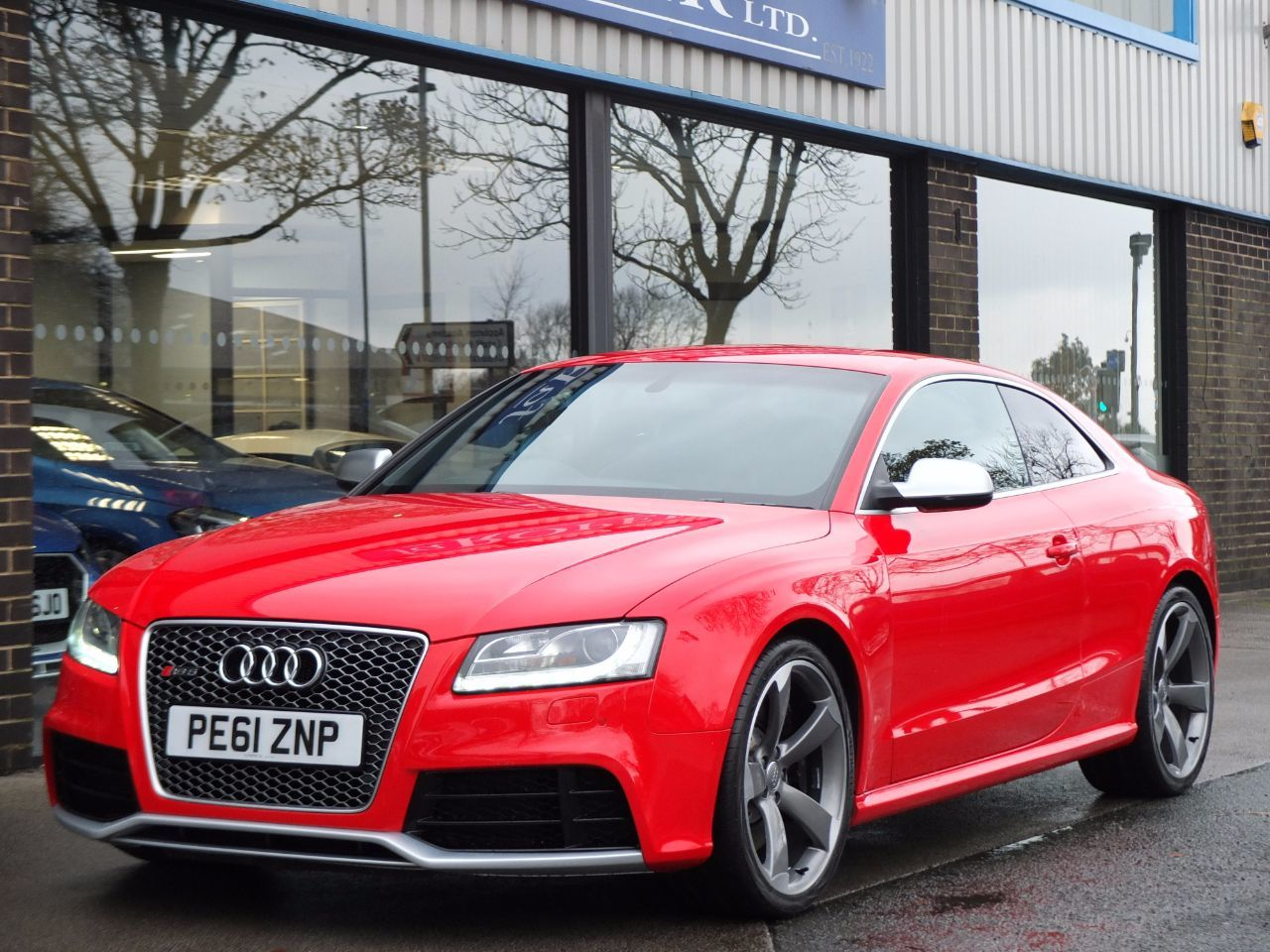 Audi RS5 4.2 FSI quattro (Bucket Seats, Miltek Exhaust, Tech Pack) Coupe Petrol Misano Red PearlAudi RS5 4.2 FSI quattro (Bucket Seats, Miltek Exhaust, Tech Pack) Coupe Petrol Misano Red Pearl at fa Roper Ltd Bradford