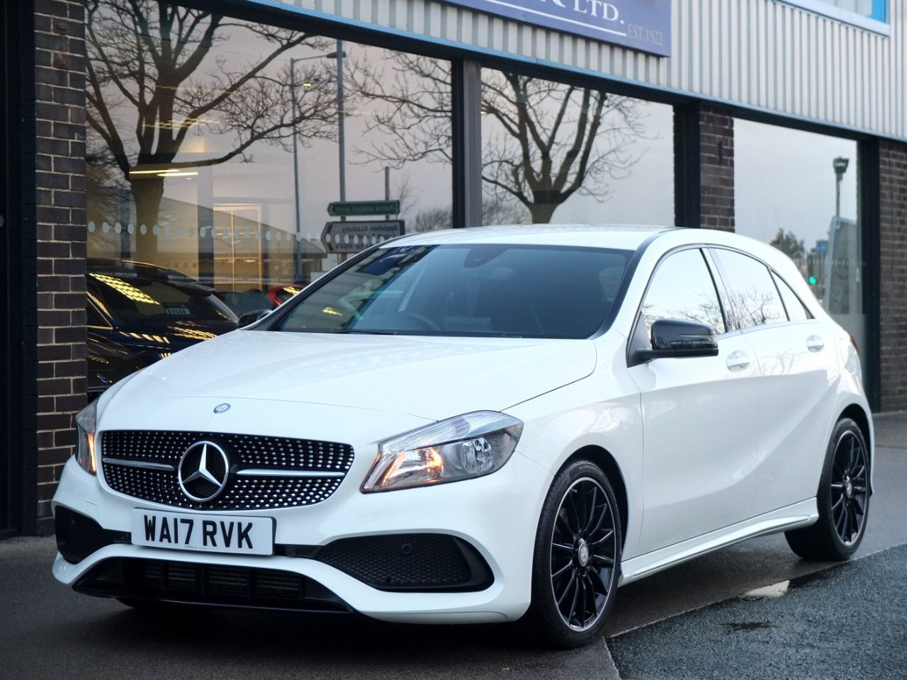 Mercedes-Benz A Class 1.6 A160 AMG Line 5 door Night Pack Hatchback Petrol Cirrus WhiteMercedes-Benz A Class 1.6 A160 AMG Line 5 door Night Pack Hatchback Petrol Cirrus White at fa Roper Ltd Bradford