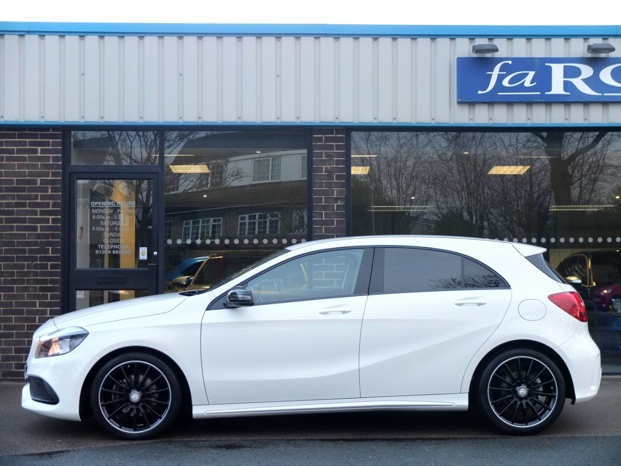 Mercedes-Benz A Class 1.6 A160 AMG Line 5 door Night Pack Hatchback Petrol Cirrus White