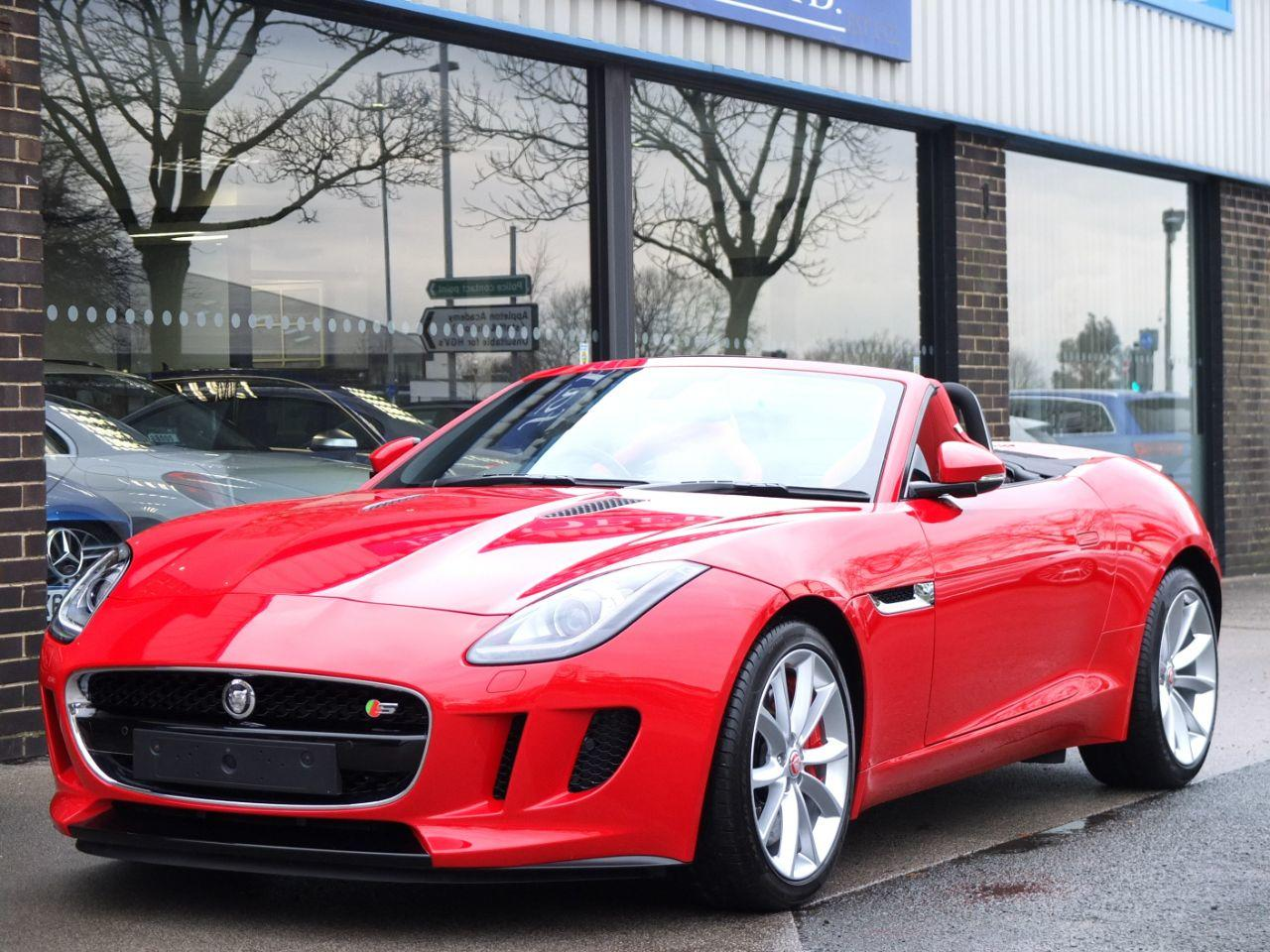 Jaguar F-type Convertible 3.0 Supercharged V6 S Auto 380ps Convertible Petrol Salsa RedJaguar F-type Convertible 3.0 Supercharged V6 S Auto 380ps Convertible Petrol Salsa Red at fa Roper Ltd Bradford