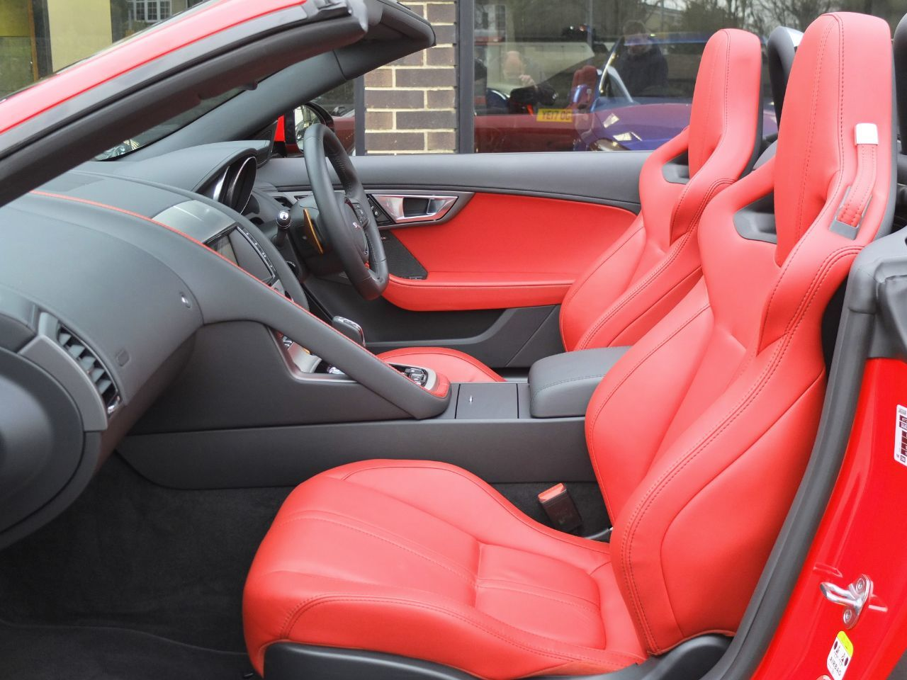 Jaguar F-type Convertible 3.0 Supercharged V6 S Auto 380ps Convertible Petrol Salsa Red