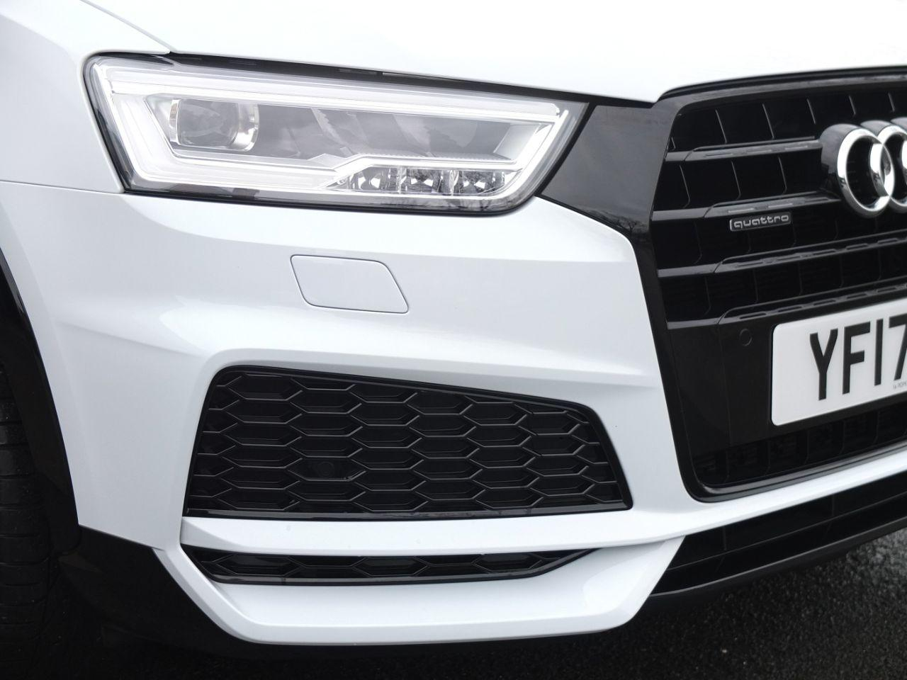 Audi Q3 2.0 TDI quattro S Line Black Edition S tronic 150ps Estate Diesel Glacier White Metallic
