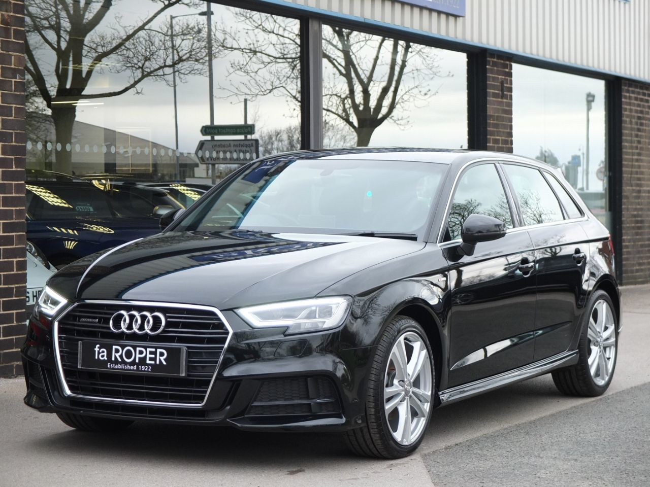Audi A3 Sportback 2.0 TDI quattro S Line 5 door 150ps Hatchback Diesel Mythos Black MetallicAudi A3 Sportback 2.0 TDI quattro S Line 5 door 150ps Hatchback Diesel Mythos Black Metallic at fa Roper Ltd Bradford