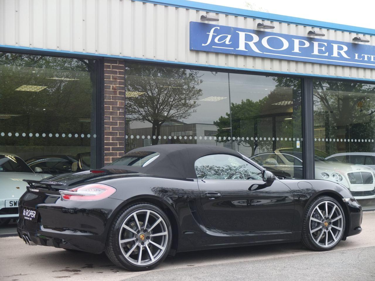 Porsche Boxster 2.7 Black Edition PDK Convertible Petrol Jet Black Metallic