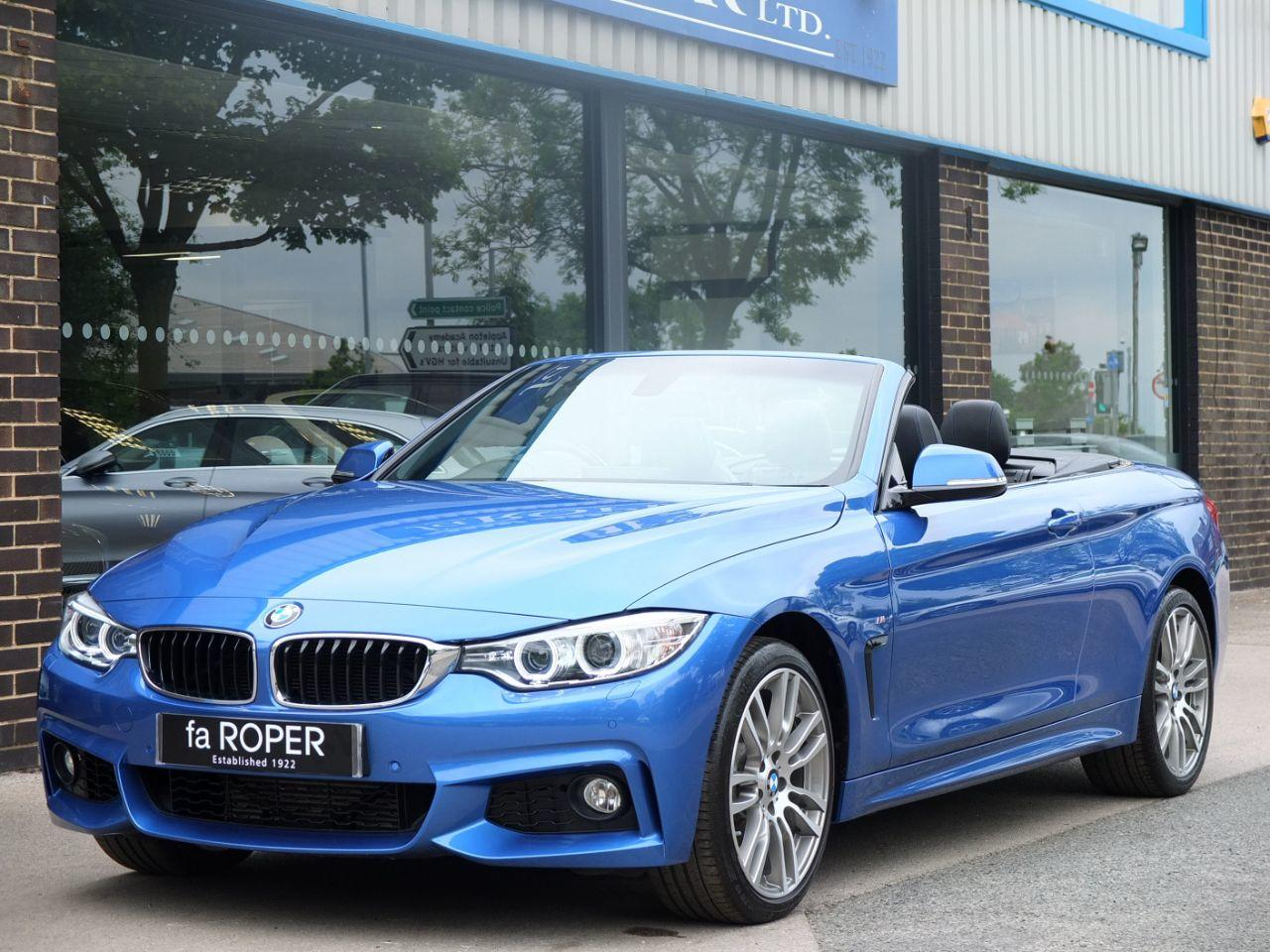 BMW 4 Series 3.0 435d xDrive M Sport Convertible Auto Convertible Diesel Estoril Blue MetallicBMW 4 Series 3.0 435d xDrive M Sport Convertible Auto Convertible Diesel Estoril Blue Metallic at fa Roper Ltd Bradford