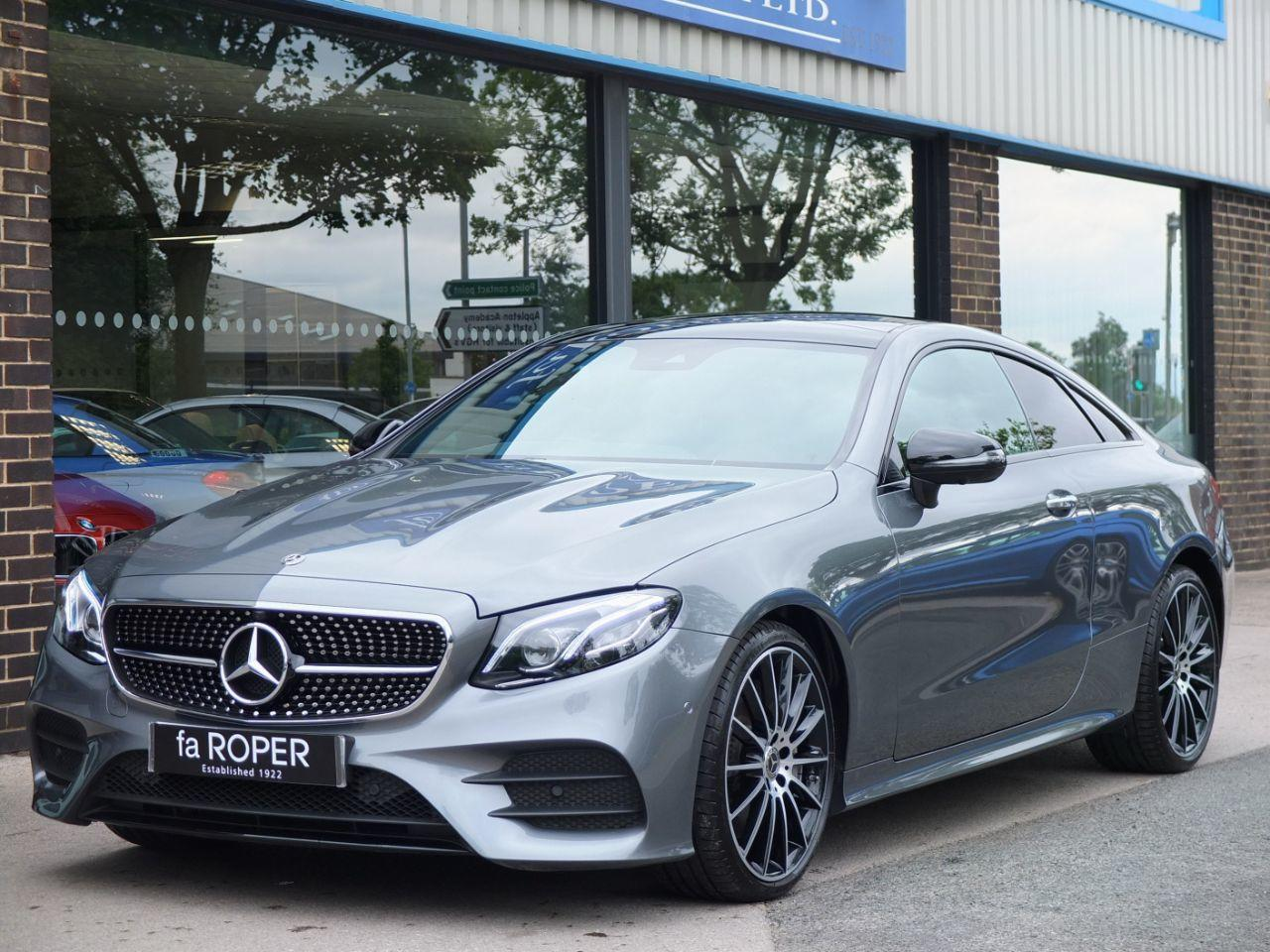 Mercedes-Benz E Class 2.0 E300 AMG Line Premium Plus Coupe 9G-tronic Coupe Petrol Selenite Grey MetallicMercedes-Benz E Class 2.0 E300 AMG Line Premium Plus Coupe 9G-tronic Coupe Petrol Selenite Grey Metallic at fa Roper Ltd Bradford