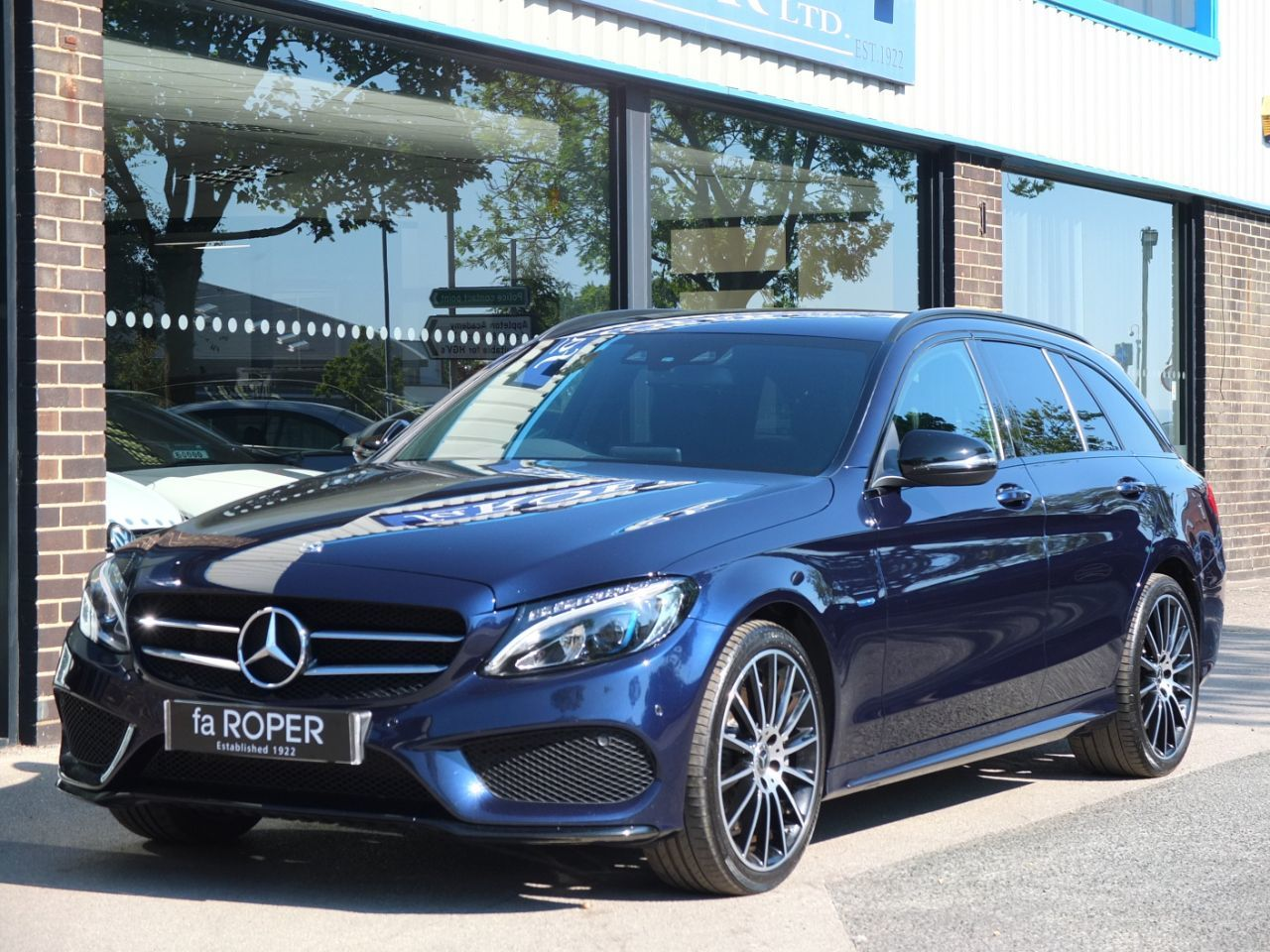Mercedes-Benz C Class 2.0 Estate C350e AMG Line PHEV Auto Estate Petrol / Electric Hybrid Cavansite Blue MetallicMercedes-Benz C Class 2.0 Estate C350e AMG Line PHEV Auto Estate Petrol / Electric Hybrid Cavansite Blue Metallic at fa Roper Ltd Bradford