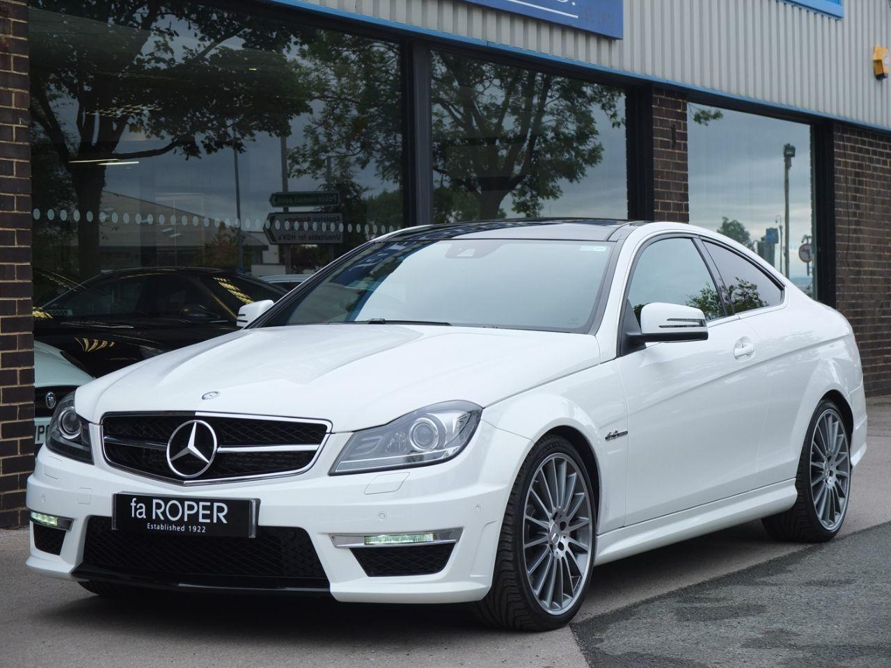 Mercedes-Benz C Class 6.2 C63 AMG Coupe MCT Coupe Petrol Polar WhiteMercedes-Benz C Class 6.2 C63 AMG Coupe MCT Coupe Petrol Polar White at fa Roper Ltd Bradford