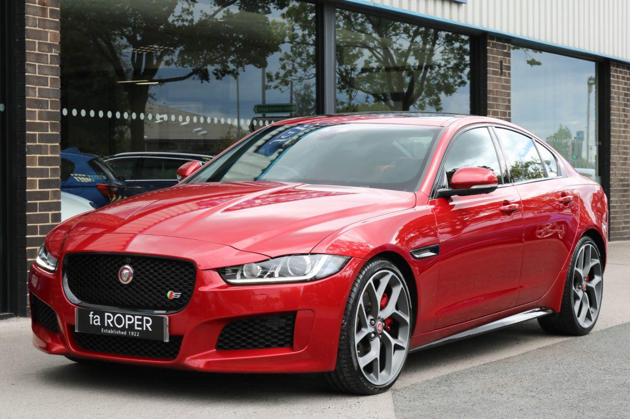 Jaguar XE 3.0 V6 Supercharged S Auto 340ps Saloon Petrol Italian Racing Red MetallicJaguar XE 3.0 V6 Supercharged S Auto 340ps Saloon Petrol Italian Racing Red Metallic at fa Roper Ltd Bradford