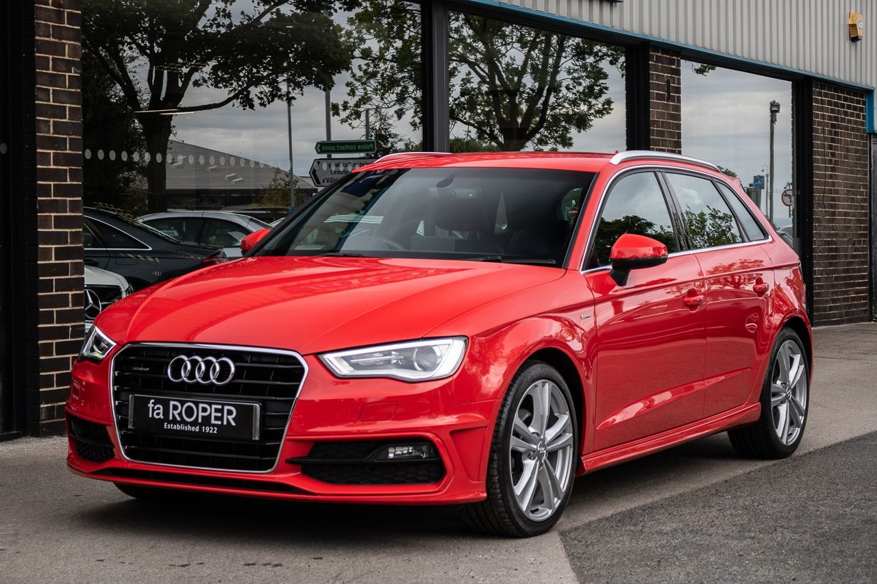 Audi A3 Sportback 2.0 TDI quattro S Line 150ps Hatchback Diesel Misano Red Pearl