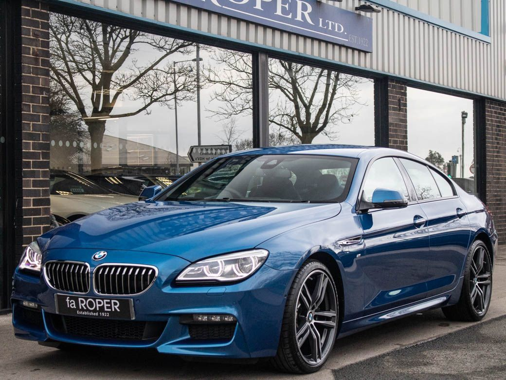 BMW 6 Series 3.0 640d Gran Coupe M Sport Plus Auto Coupe Diesel Sonic Speed Blue MetallicBMW 6 Series 3.0 640d Gran Coupe M Sport Plus Auto Coupe Diesel Sonic Speed Blue Metallic at fa Roper Ltd Bradford