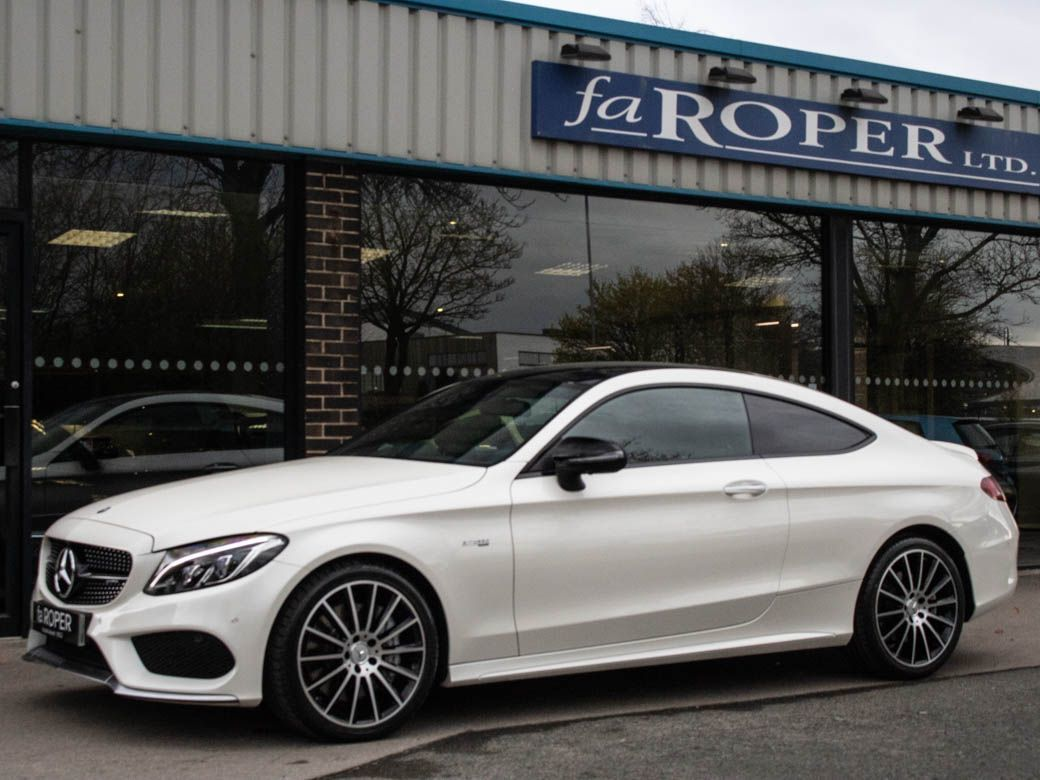 Mercedes-Benz C Class 3.0 C43 AMG Coupe 4MATIC Premium Plus Auto 367bhp Coupe Petrol Designo Diamond White Metallic