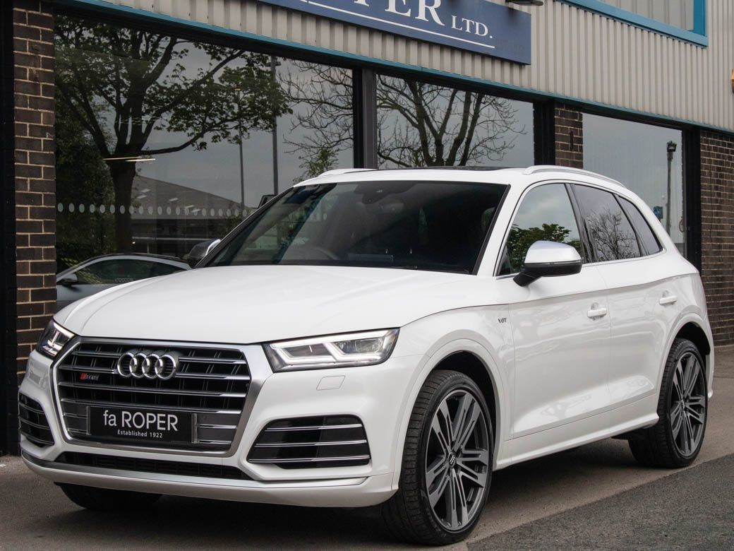 Audi Q5 3.0 SQ5 quattro Auto (Pan Roof) Estate Petrol Ibis WhiteAudi Q5 3.0 SQ5 quattro Auto (Pan Roof) Estate Petrol Ibis White at fa Roper Ltd Bradford